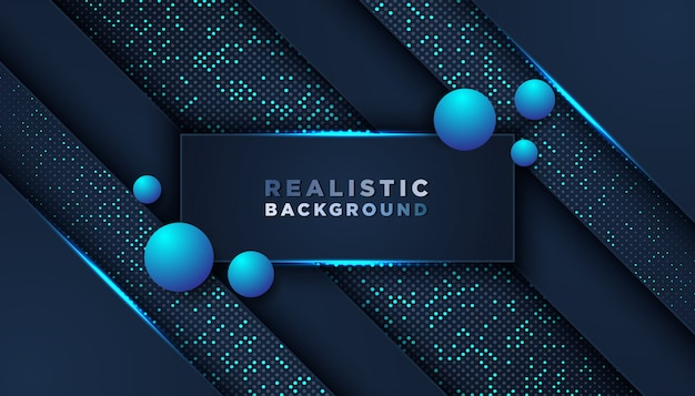 Blue Futuristic Background With Shapes Vector Free Download