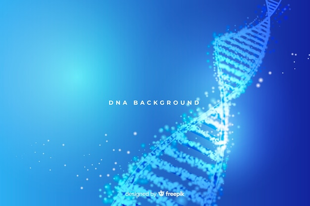 Blue abstract dna structure background Free Vector