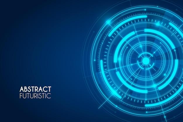 青い抽象的な未来的な背景 無料ベクター