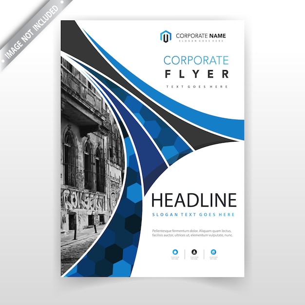 Blue abstract geometric corporate booklet design