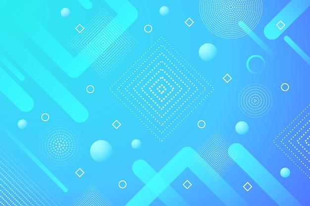 青の抽象的なハーフトーンの背景 無料ベクター