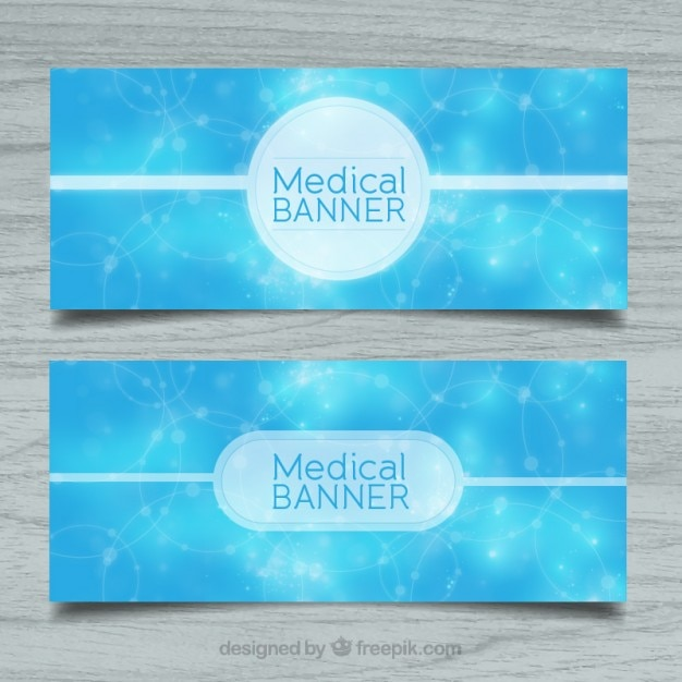 Blue abstract medical banners