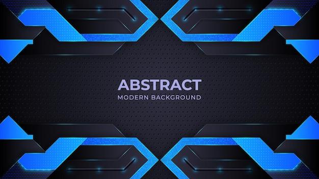기하학 형태와 블루 추상적 인 현대 배경 프리미엄 벡터