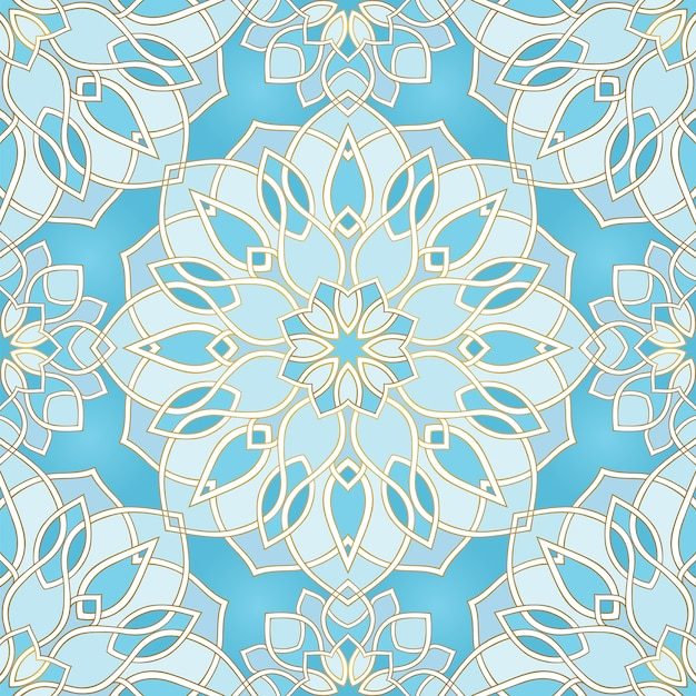 Blue abstract pattern. Premium Vector