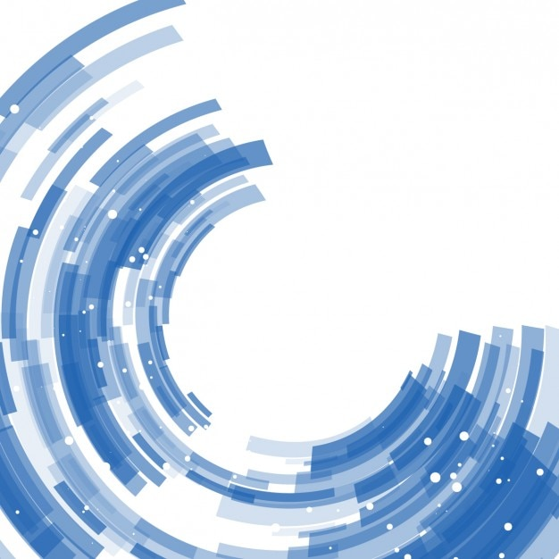 Blue abstract semicircles background Free Vector