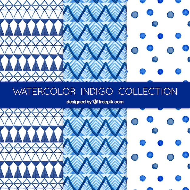 Blue abstract shapes patterns Free Vector