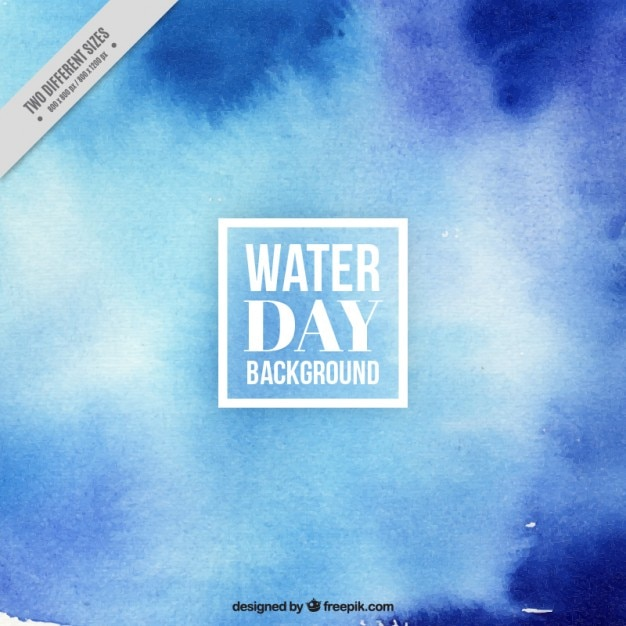 Blue abstract water day background Premium Vector