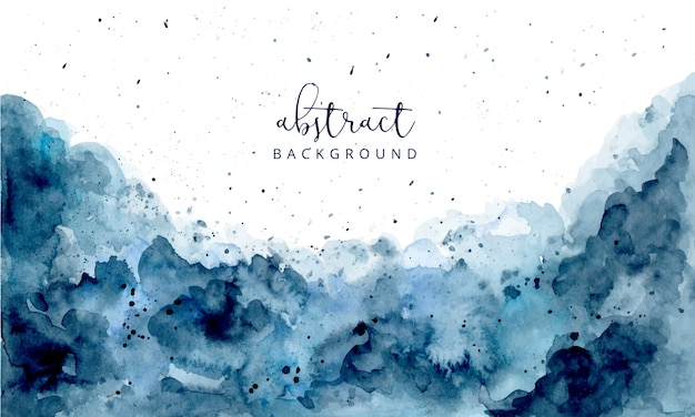 Blue abstract watercolor texture background Premium Vector