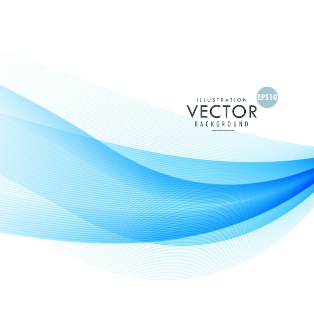 Blue Abstract Wave Background Vector Free Download