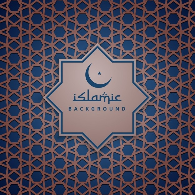 blue and brown islamic background vector free download