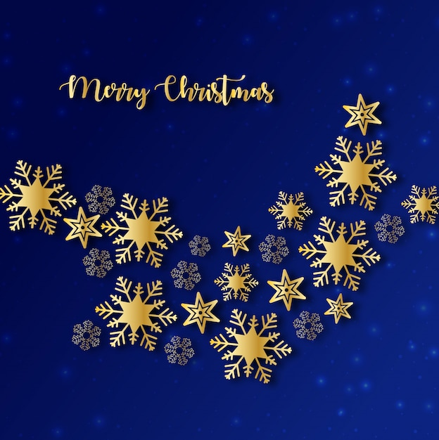 Blue and gold christmas background vector premium download for Blue and gold christmas
