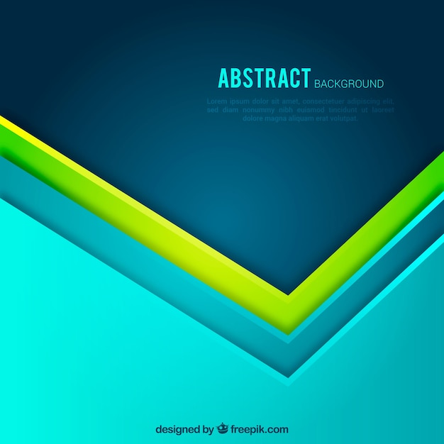 Blue and green abstract background with geometric shapes