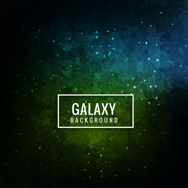 blue and green galaxy background vector free download