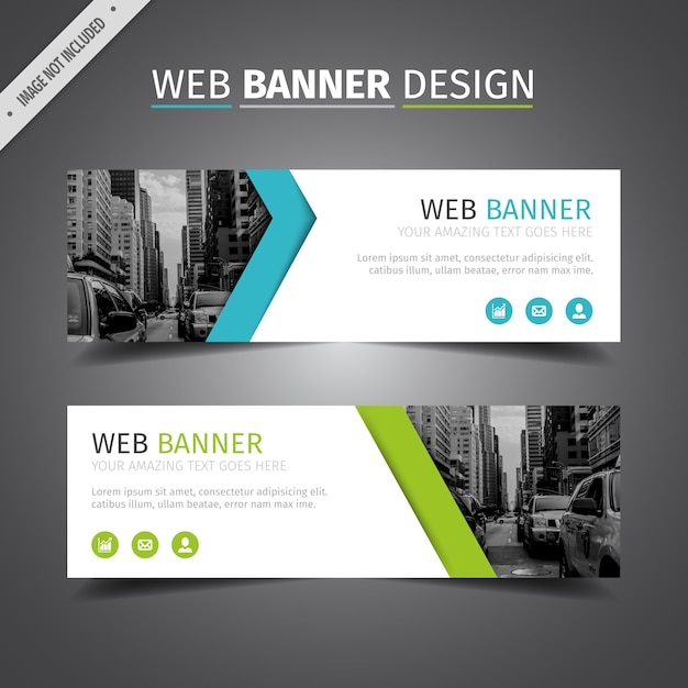 Blue And Green Web Banner Design Vector Free Download