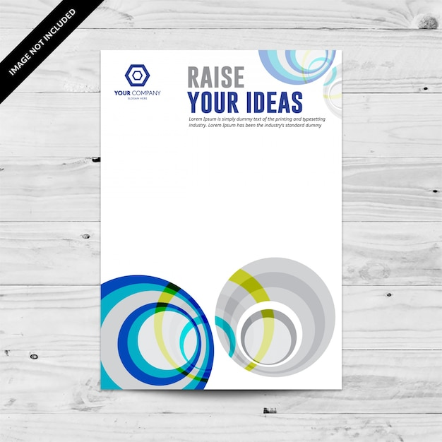 Blue and grey abstract business flyer design template