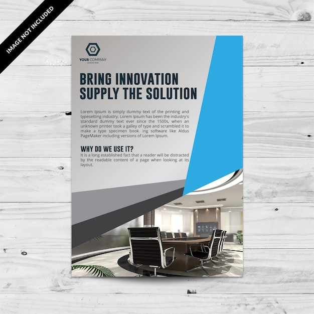 Blue and grey business brochure