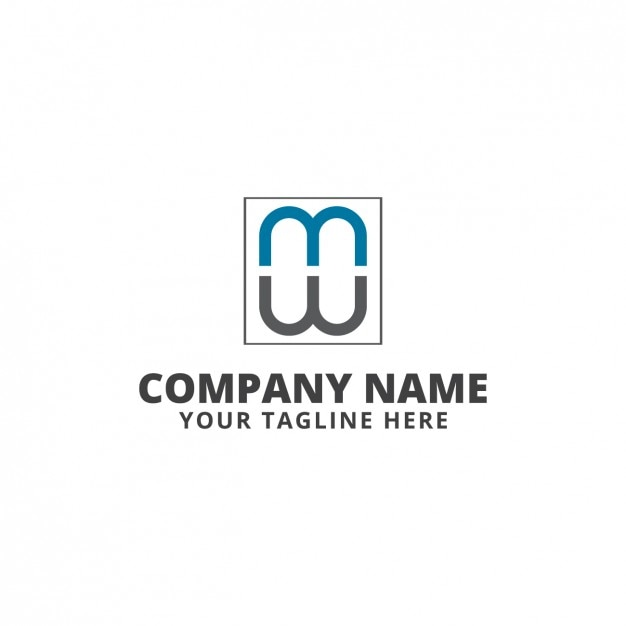 Blue and grey logo