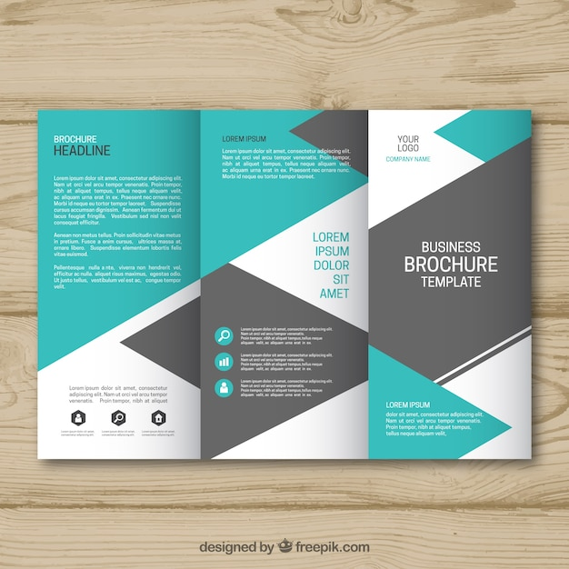 Blue and grey trifold business brochure template vector free download blue and grey trifold business brochure template free vector accmission Image collections