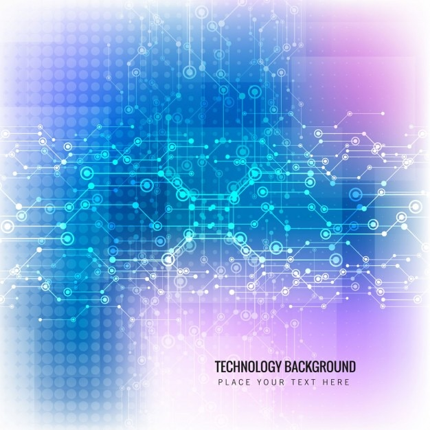 Blue and pink abstract technology background
