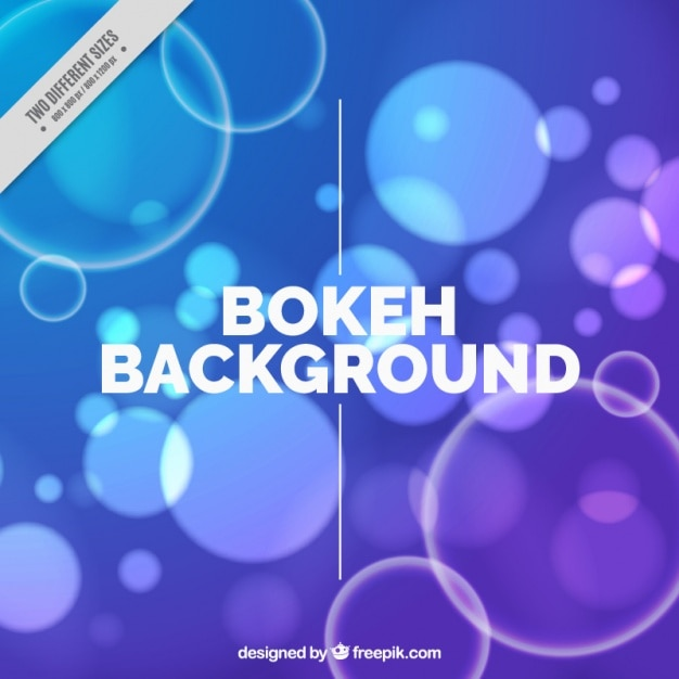 Blue and purple background with bokeh effect