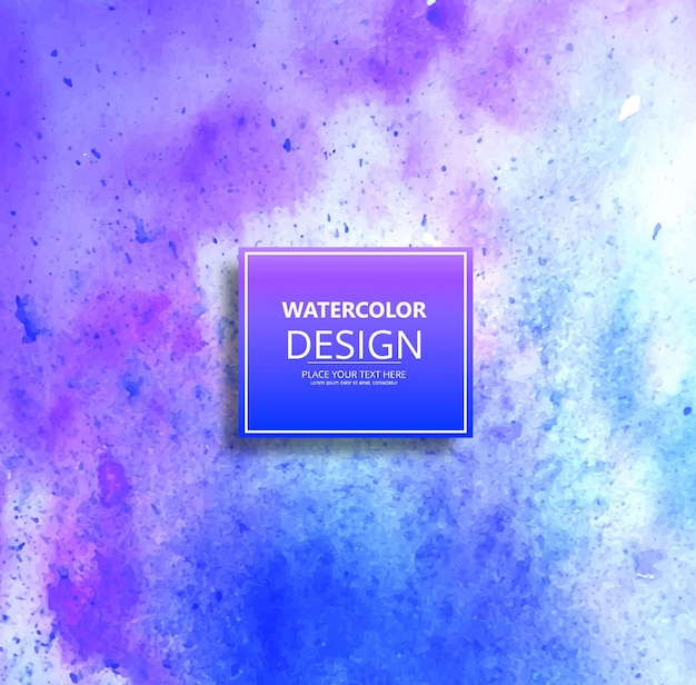 Blue and purple watercolor design background