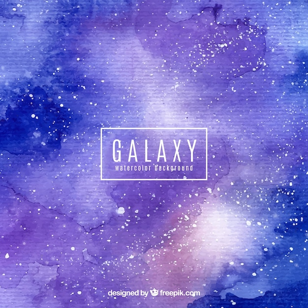 Blue and purple watercolor galaxy background