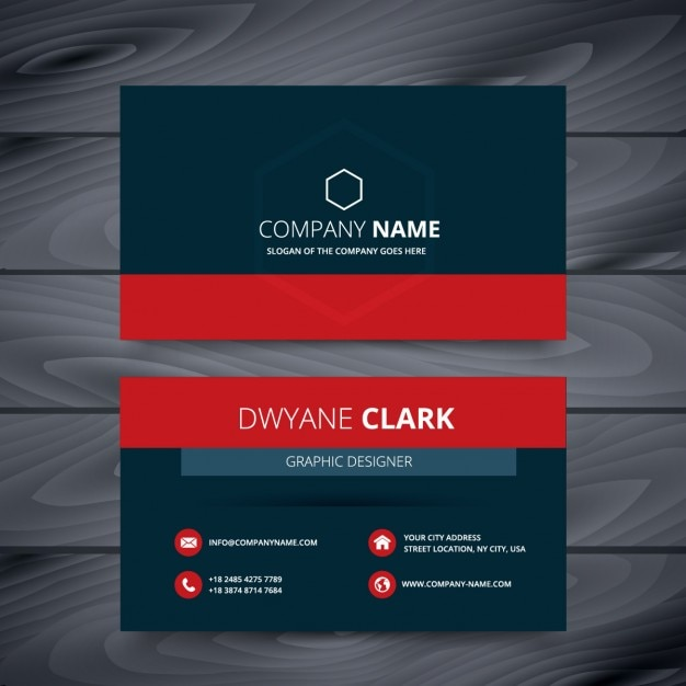 Blue And Red Modern Business Card Vector Free Download