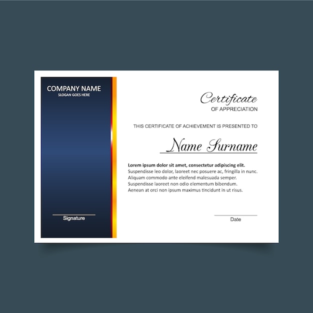 Blue and white certificate of appreciation template vector free blue and white certificate of appreciation template free vector yelopaper Image collections