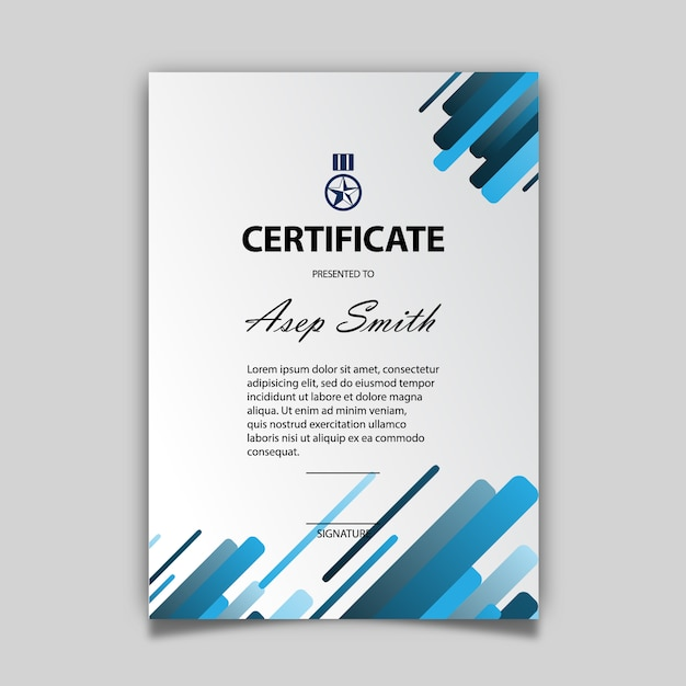 Blue and white certificate template vector free download blue and white certificate template free vector yelopaper Image collections
