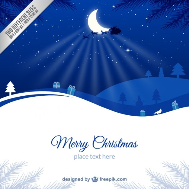 Blue And White Christmas Card Template Vector Free Download - Christmas card template blue