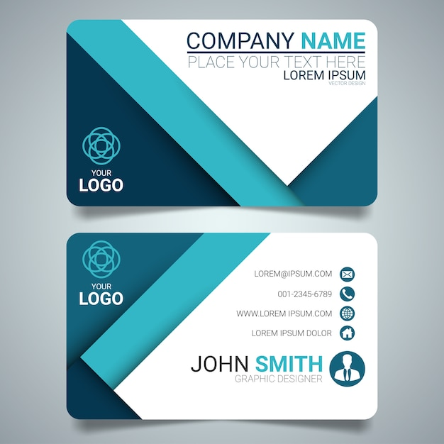 Blue and white layout business card template vector premium download blue and white layout business card template premium vector colourmoves