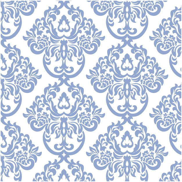 Blue And White Ornamental Pattern Background Free Vector