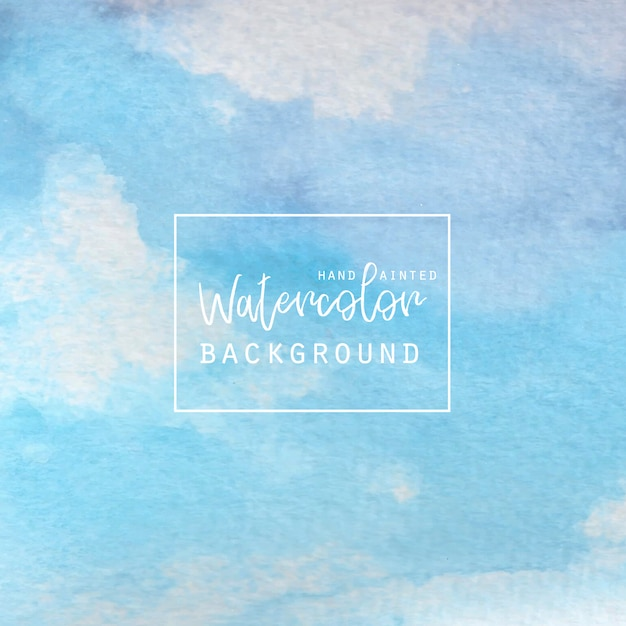 Blue and white watercolor abstract background Free Vector