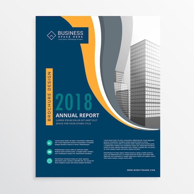 blue and yellow business brochure vector free download rh freepik com free vector download flyer