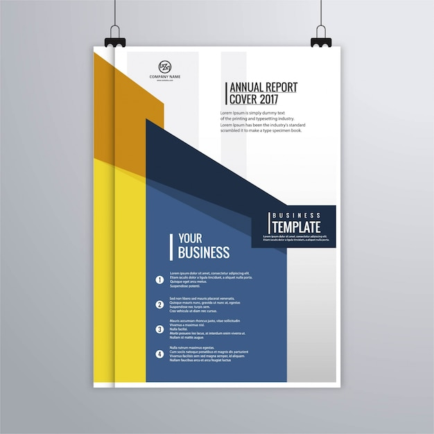 Blue and yellow modern corporate brochure