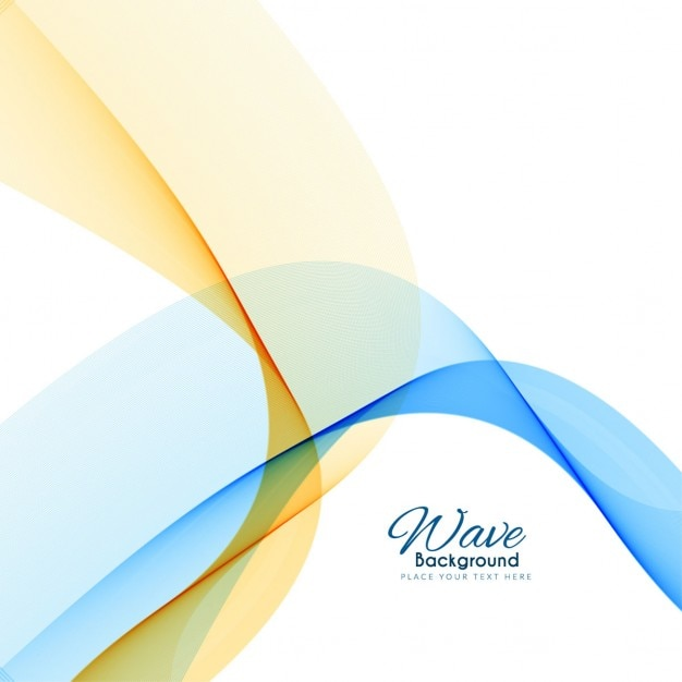 blue and yellow wavy abstract background vector free download. Black Bedroom Furniture Sets. Home Design Ideas
