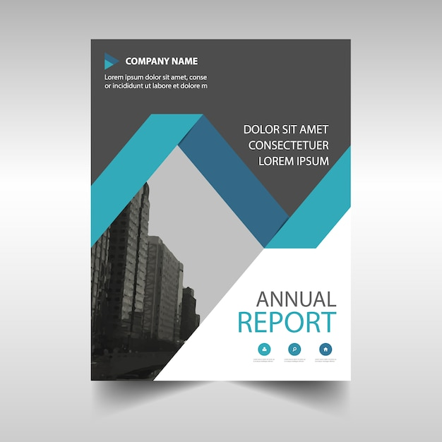 Blue Annual Report Book Cover Template Vector Free Download
