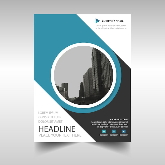 Blue Annual Report Brochure Vector  Free Download