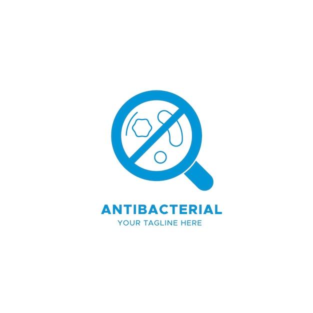 Голубой антибактериальный логотип Бесплатные векторы