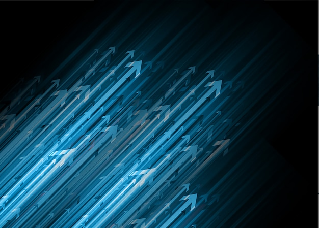 Blue arrow future technology  background Premium Vector