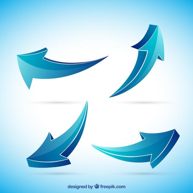 4 blue arrows logo