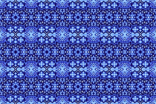 Голубое искусство с звездной рукой оттянутый бесшовный фон Premium векторы