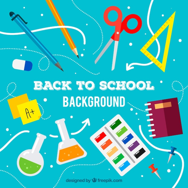 Blue back to school concept