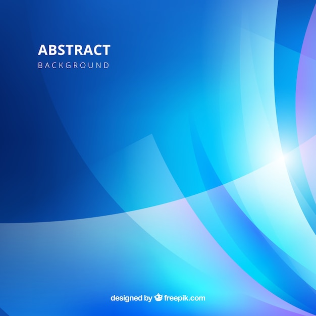 Blue background in abstract style Free Vector