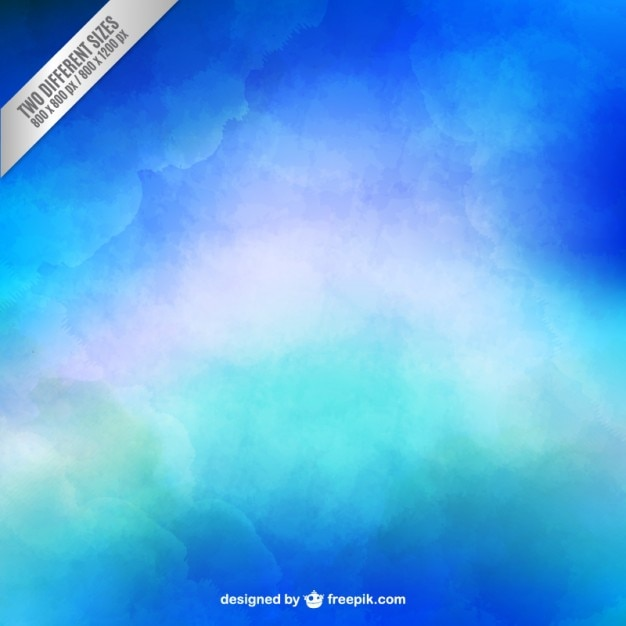 Blue background in watercolor style Free Vector