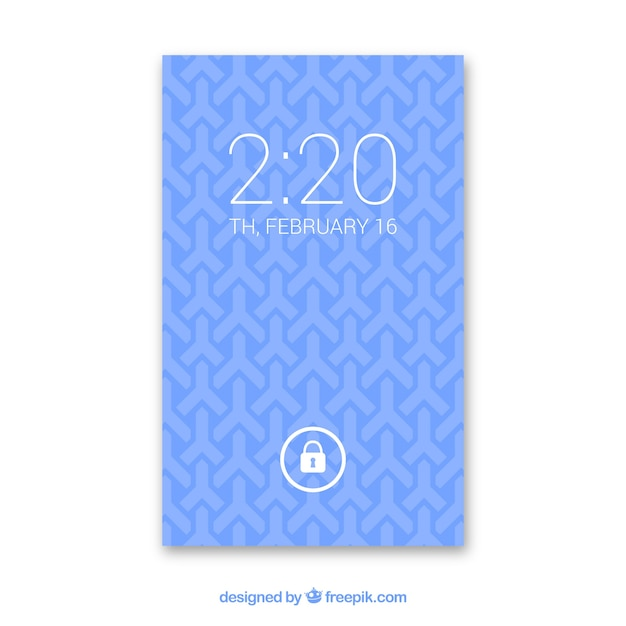 Blue background of geometric shapes for mobile
