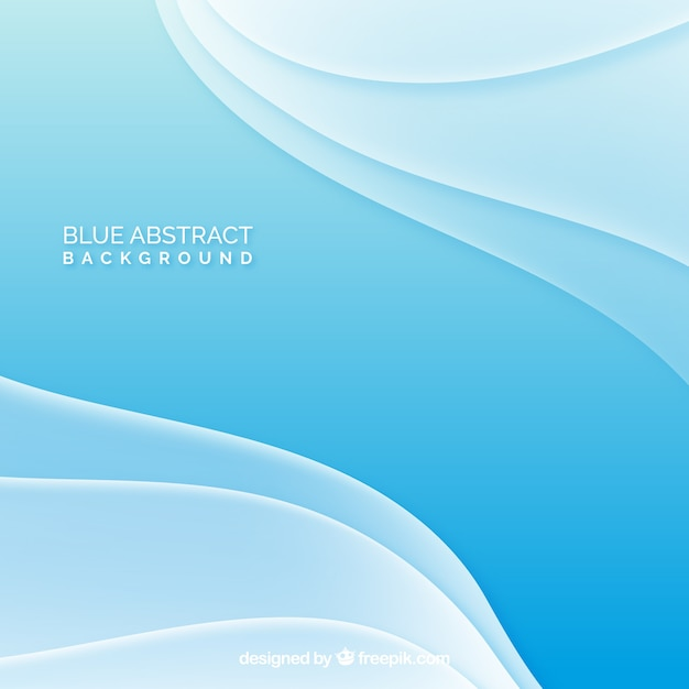 Blue background of waves Free Vector