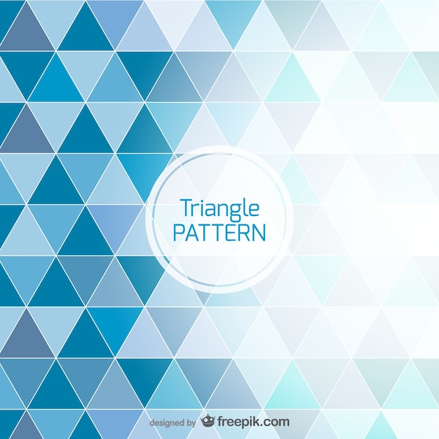 Blue background triangle design Free Vector