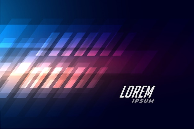 Blue background with abstract shiny shapes Free Vector