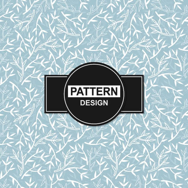 Blue background with floral ornaments in seamless pattern Premium Vector